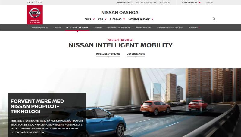Pri príležitosti spustenia predaja nového modelu Qashqai automobilka pripravila samostatnú stránku.