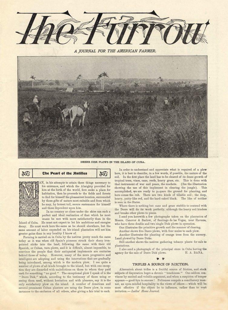 staré vydanie The Furrow magazínu