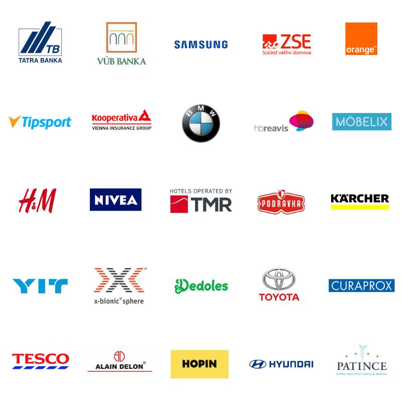 logá zákazníkov
